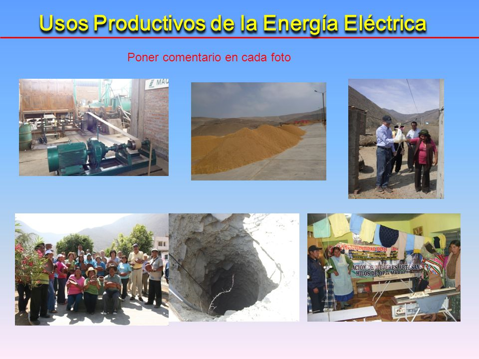 Usos Productivos de la Energía Eléctrica