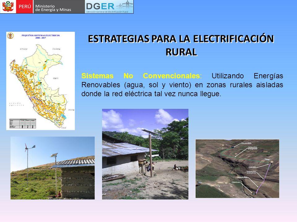 ESTRATEGIAS PARA LA ELECTRIFICACIÓN RURAL