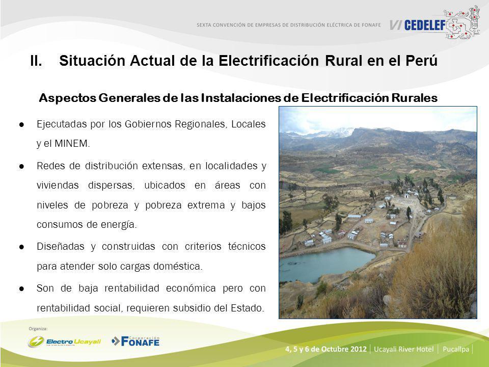 Situación Actual de la Electrificación Rural en el Perú