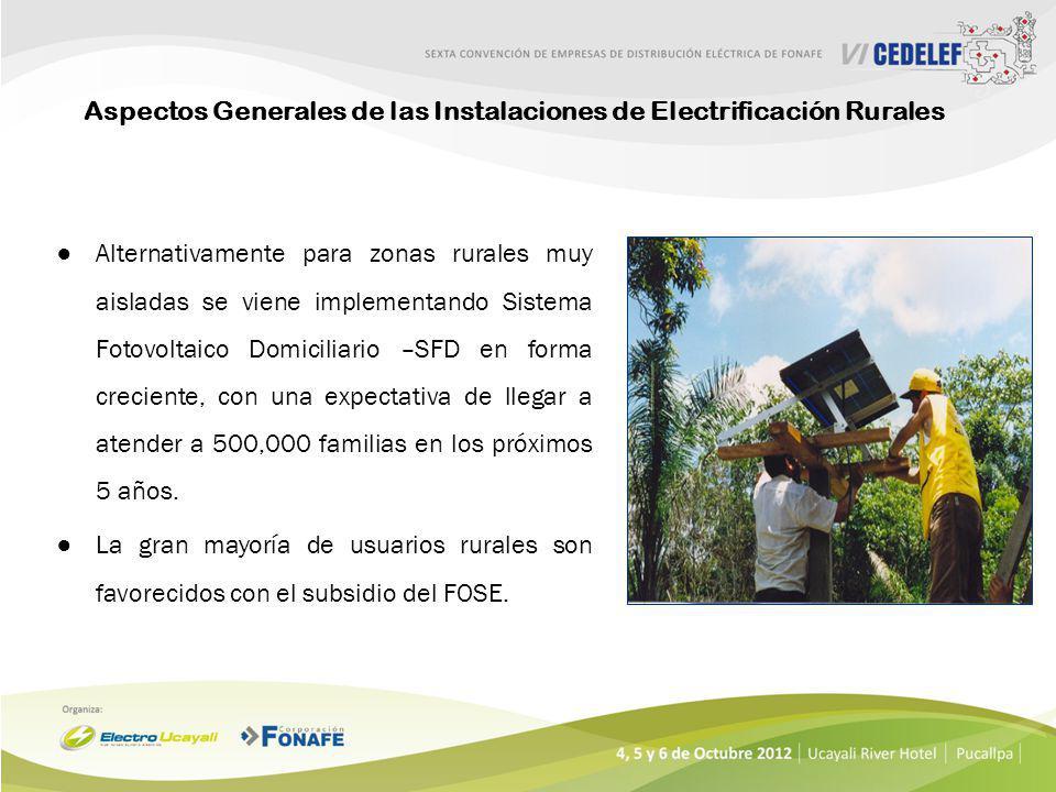 Aspectos Generales de las Instalaciones de Electrificación Rurales