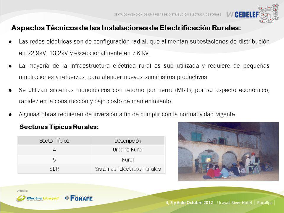 Aspectos Técnicos de las Instalaciones de Electrificación Rurales: