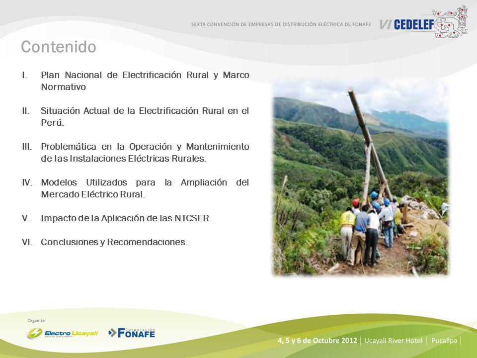 Contenido Plan Nacional de Electrificación Rural y Marco Normativo