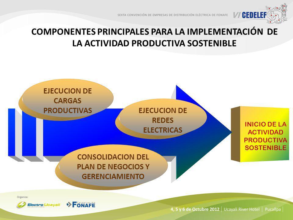 Componentes Principales para la Implementación de la Actividad Productiva Sostenible
