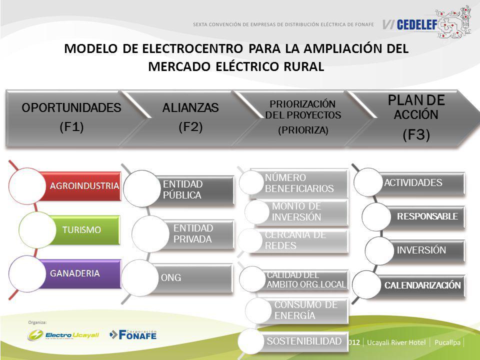 Modelo de ELECTROCENTRO para la ampliación del mercado eléctrico rural