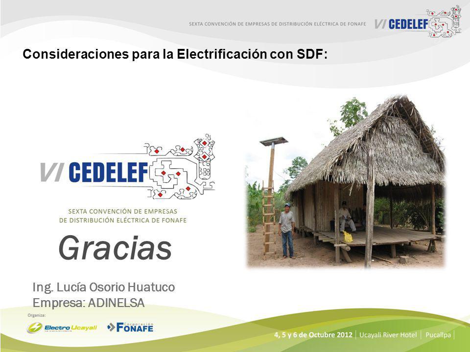 Gracias Consideraciones para la Electrificación con SDF:
