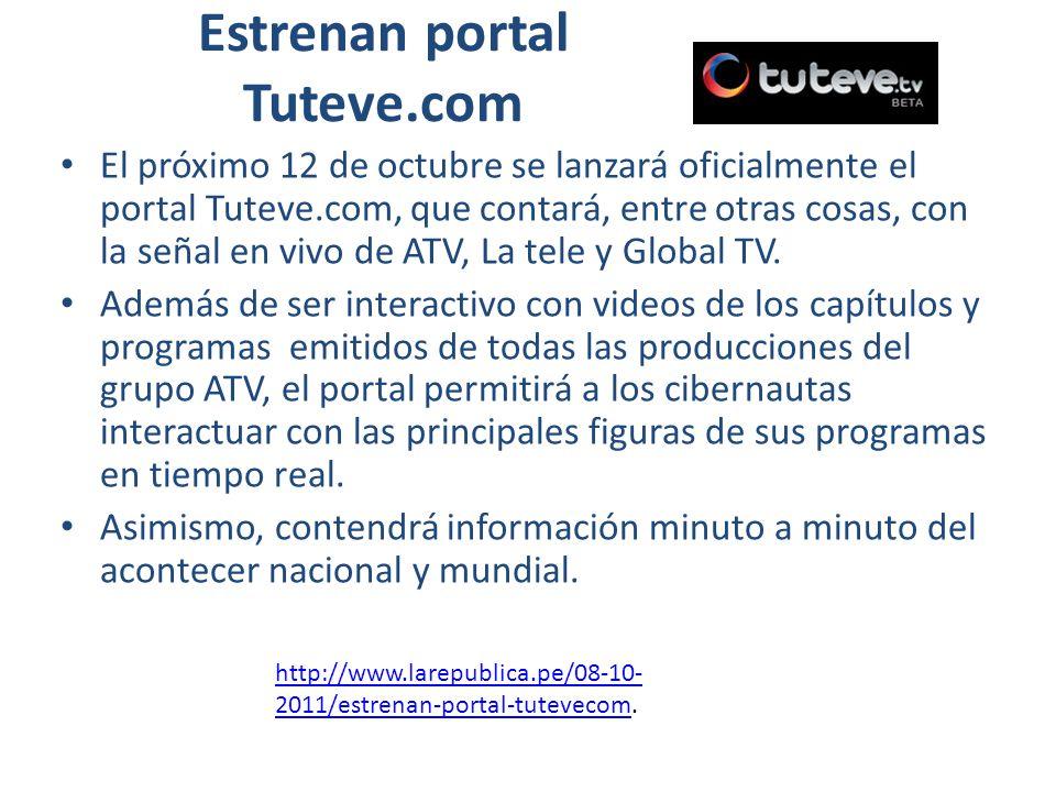 Estrenan portal Tuteve.com