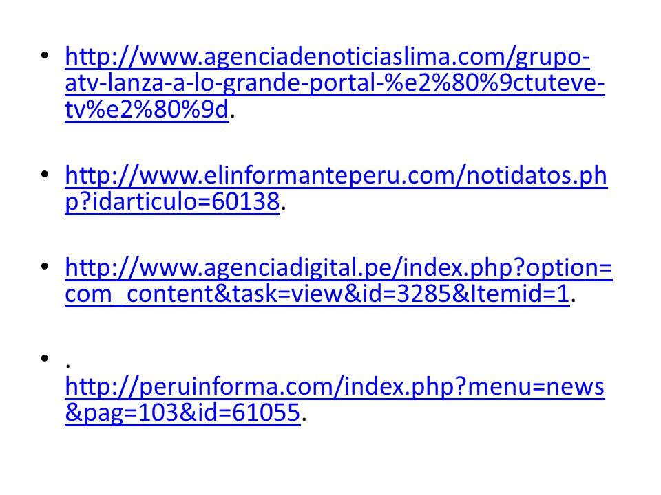 http://www. agenciadenoticiaslima