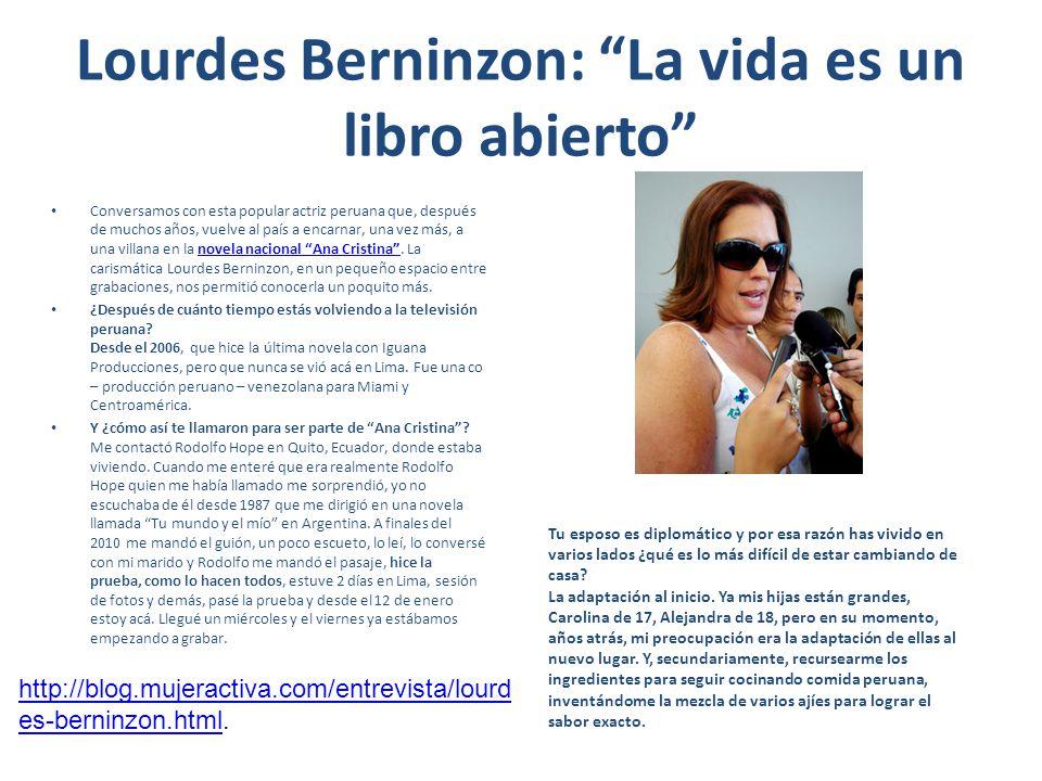 Lourdes Berninzon: La vida es un libro abierto