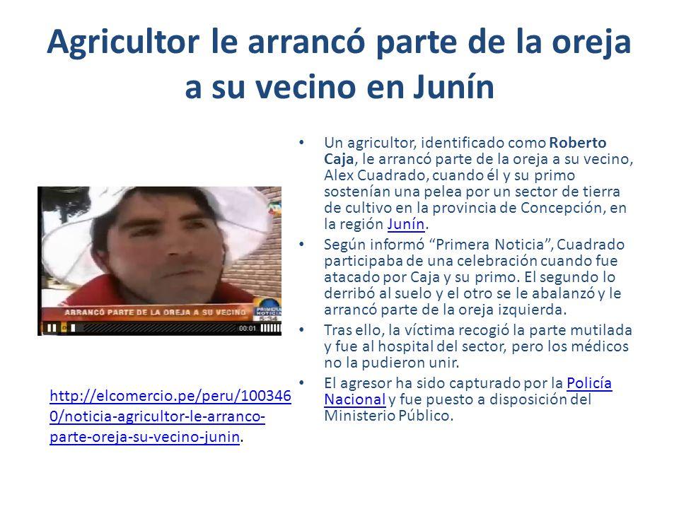 Agricultor le arrancó parte de la oreja a su vecino en Junín