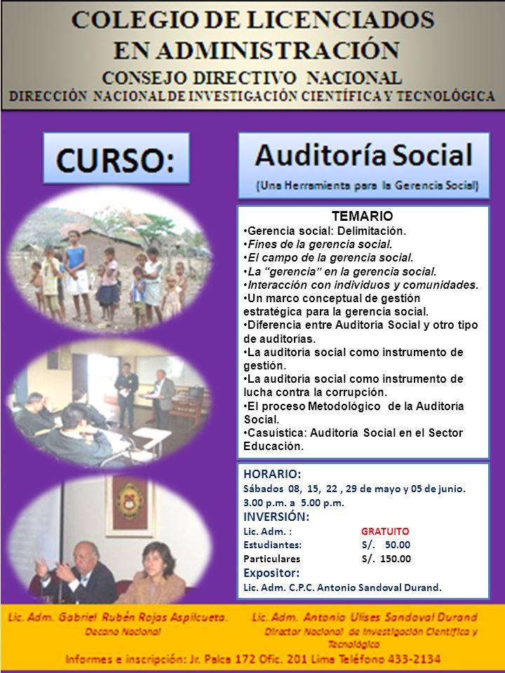 COLEGIO DE CONTADORES PUBLICOS DE LIMA Comité de Auditoria.