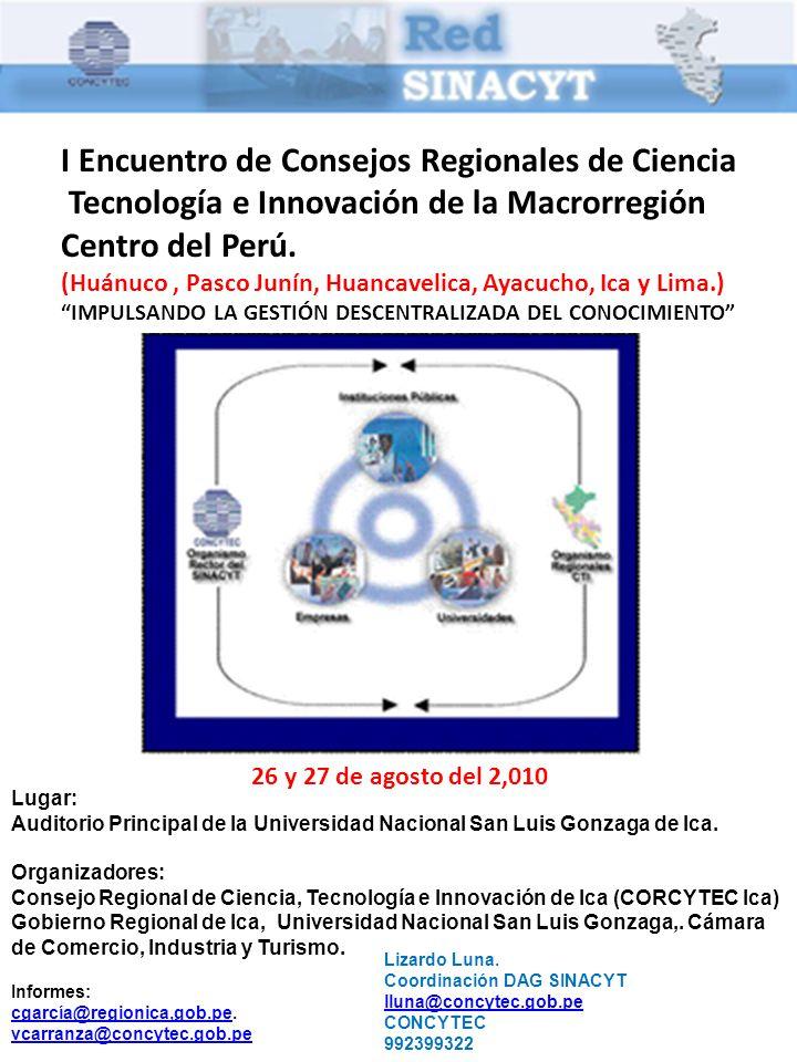 I Encuentro de Consejos Regionales de Ciencia