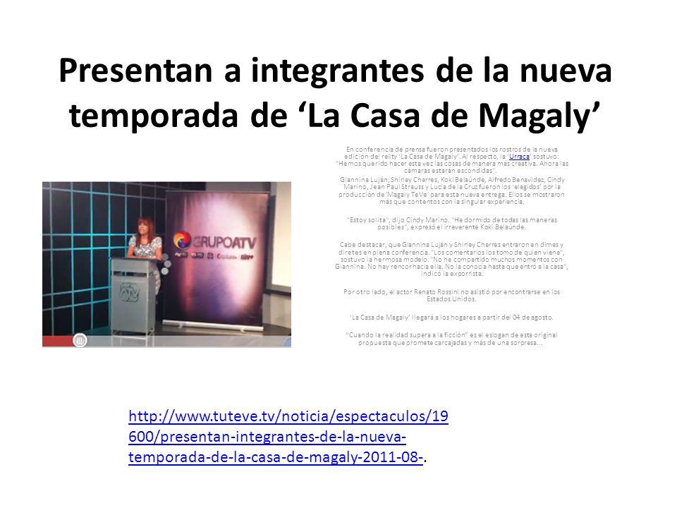 Presentan a integrantes de la nueva temporada de 'La Casa de Magaly'