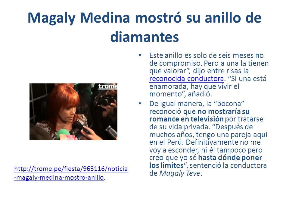 Magaly Medina mostró su anillo de diamantes