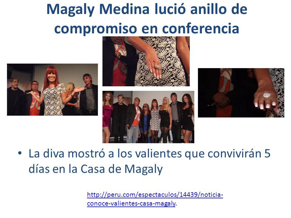 Magaly Medina lució anillo de compromiso en conferencia