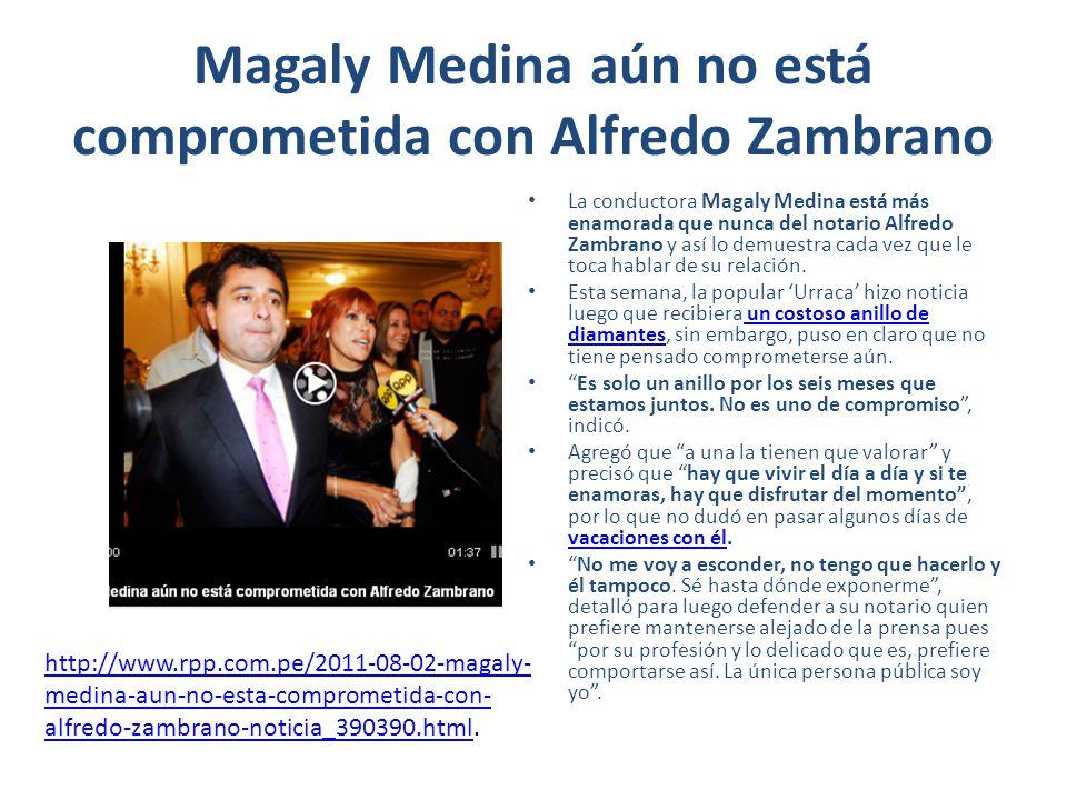 Magaly Medina aún no está comprometida con Alfredo Zambrano