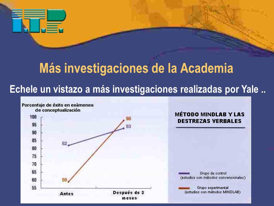 Más investigaciones de la Academia