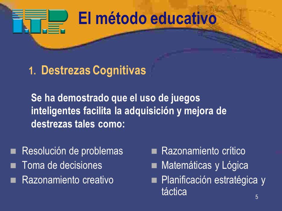 El método educativo 1. Destrezas Cognitivas