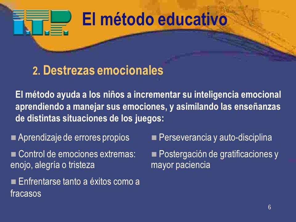 El método educativo 2. Destrezas emocionales