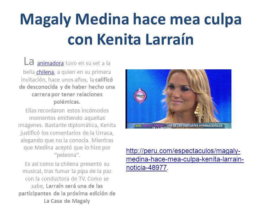 Magaly Medina hace mea culpa con Kenita Larraín