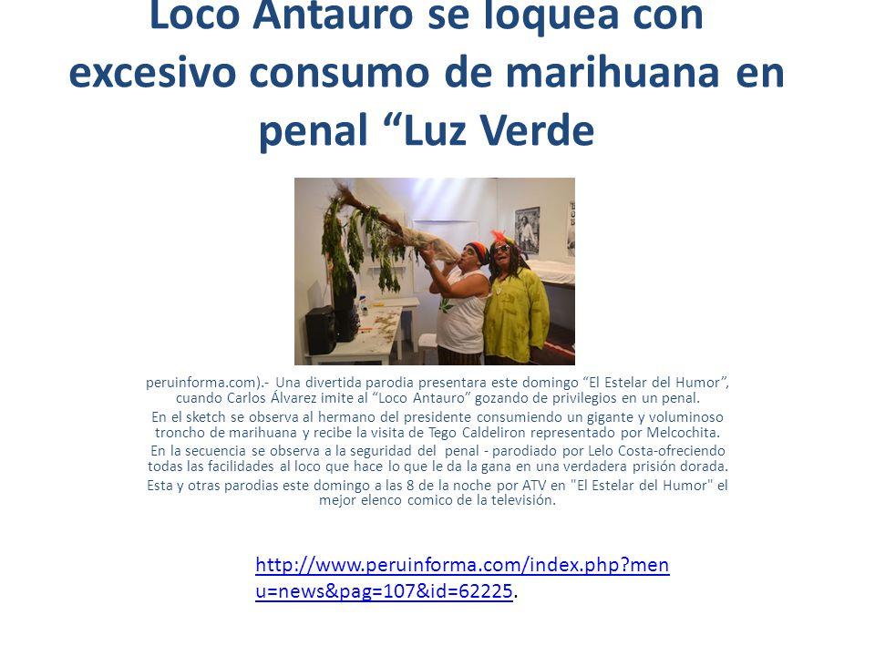 Loco Antauro se loquea con excesivo consumo de marihuana en penal Luz Verde