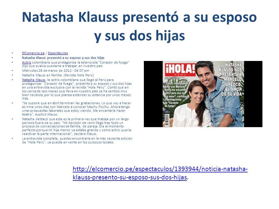 Natasha Klauss presentó a su esposo y sus dos hijas