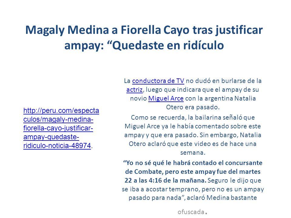 Magaly Medina a Fiorella Cayo tras justificar ampay: Quedaste en ridículo