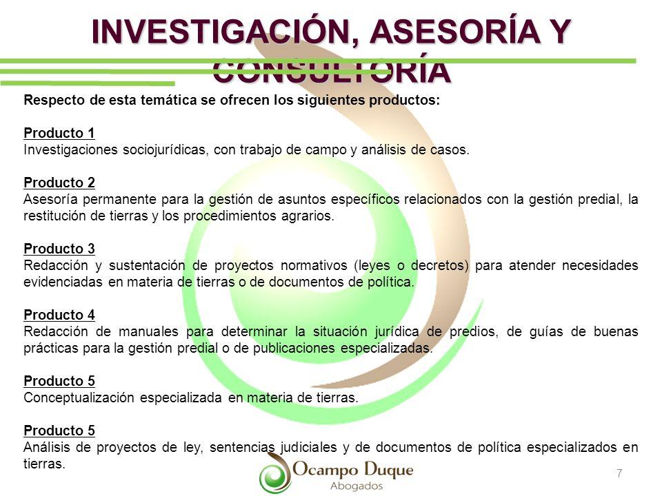 INVESTIGACIÓN, ASESORÍA Y CONSULTORÍA