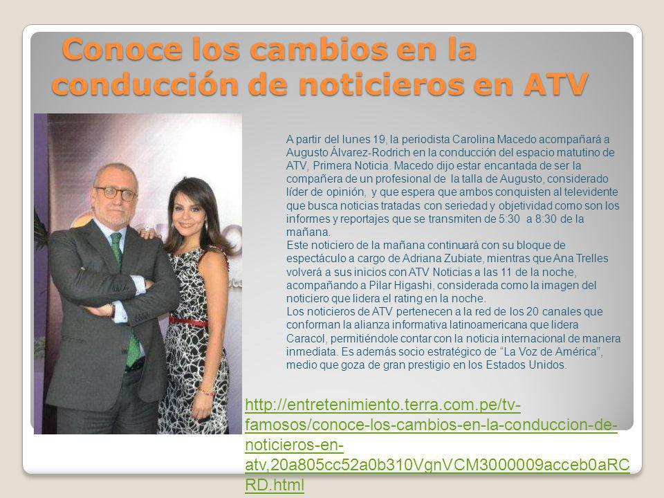 Conoce los cambios en la conducción de noticieros en ATV