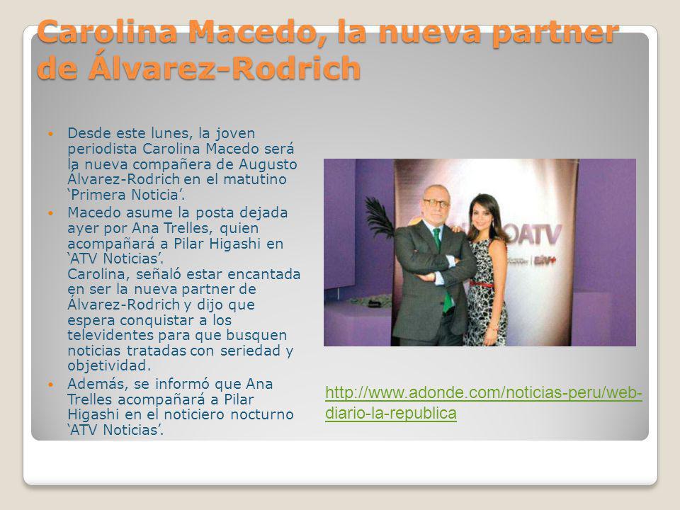Carolina Macedo, la nueva partner de Álvarez-Rodrich