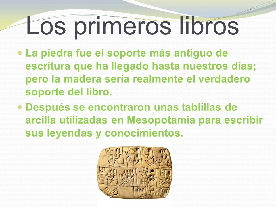 Los primeros libros