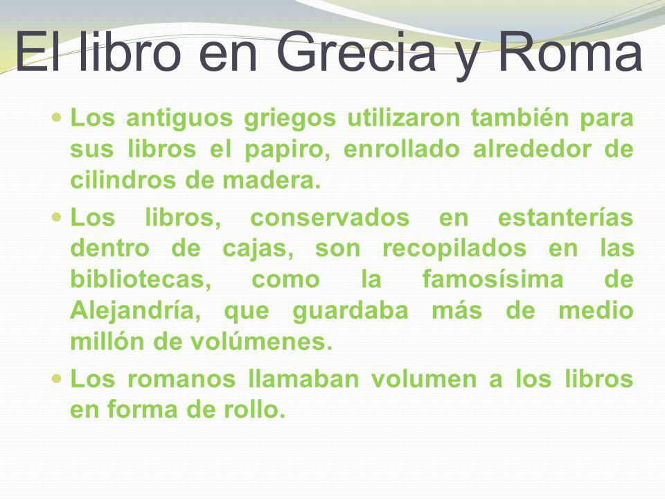 El libro en Grecia y Roma