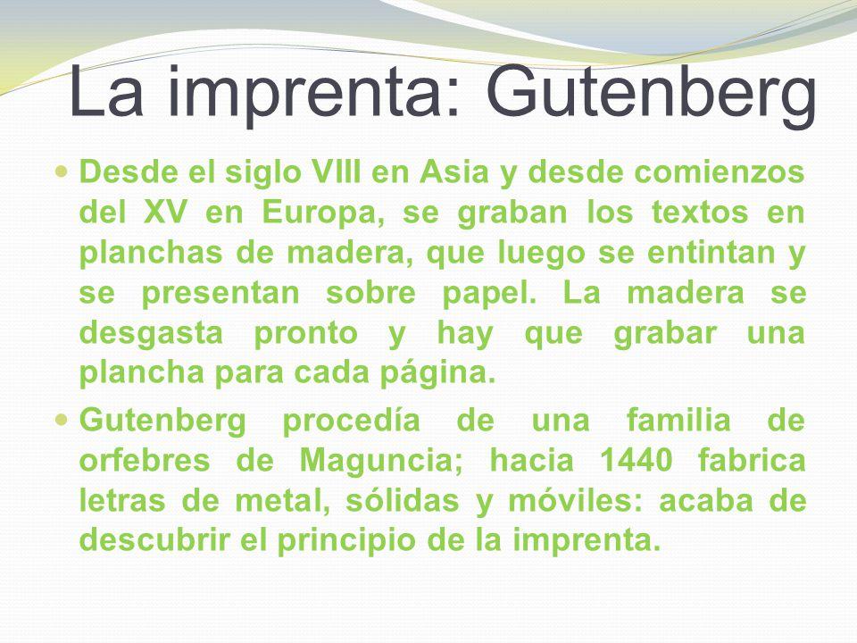 La imprenta: Gutenberg