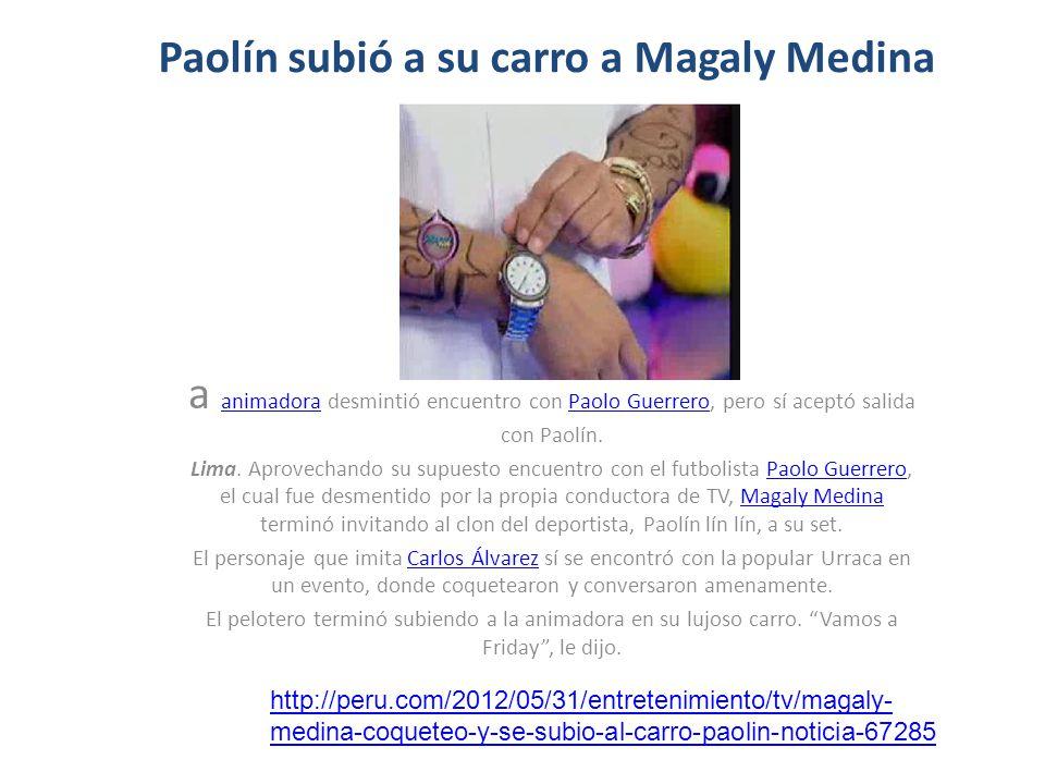 Paolín subió a su carro a Magaly Medina