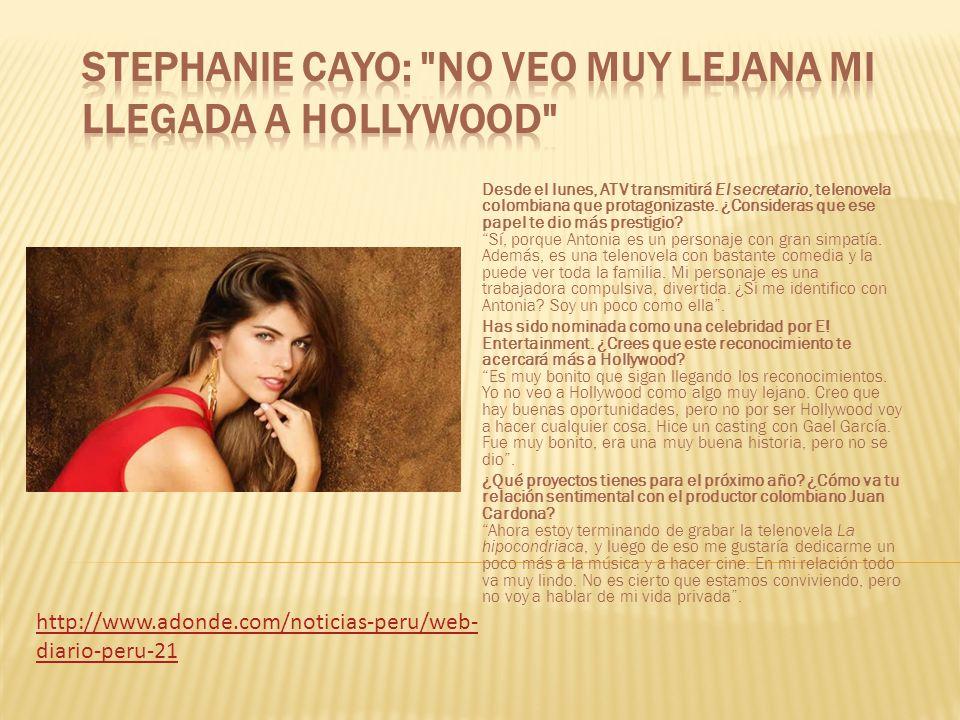 Stephanie Cayo: No veo muy lejana mi llegada a Hollywood