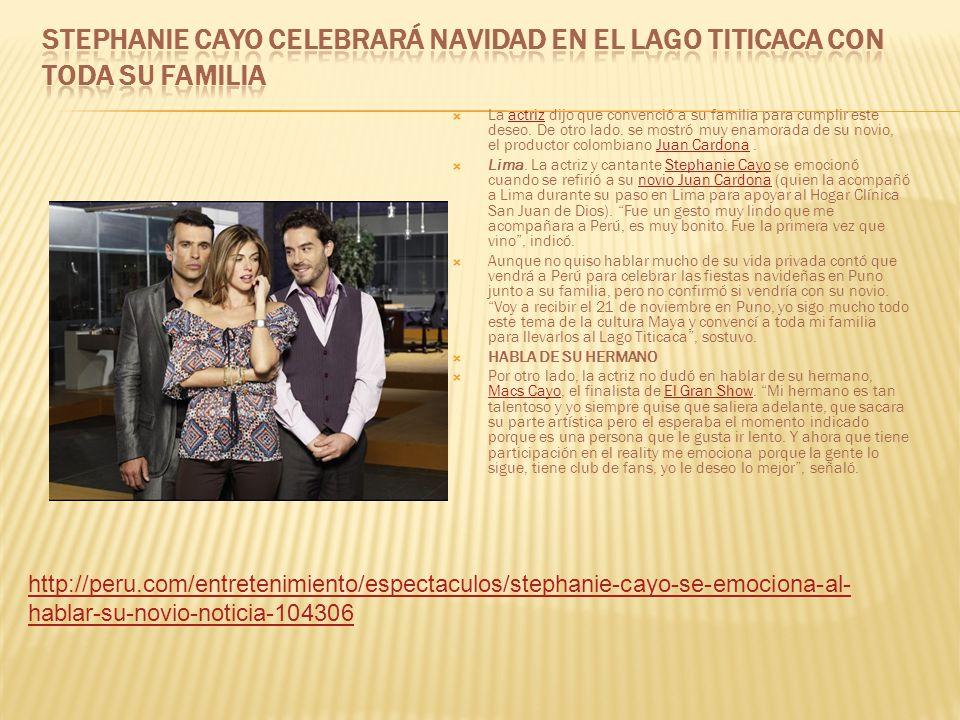 Stephanie Cayo celebrará Navidad en el Lago Titicaca con toda su familia