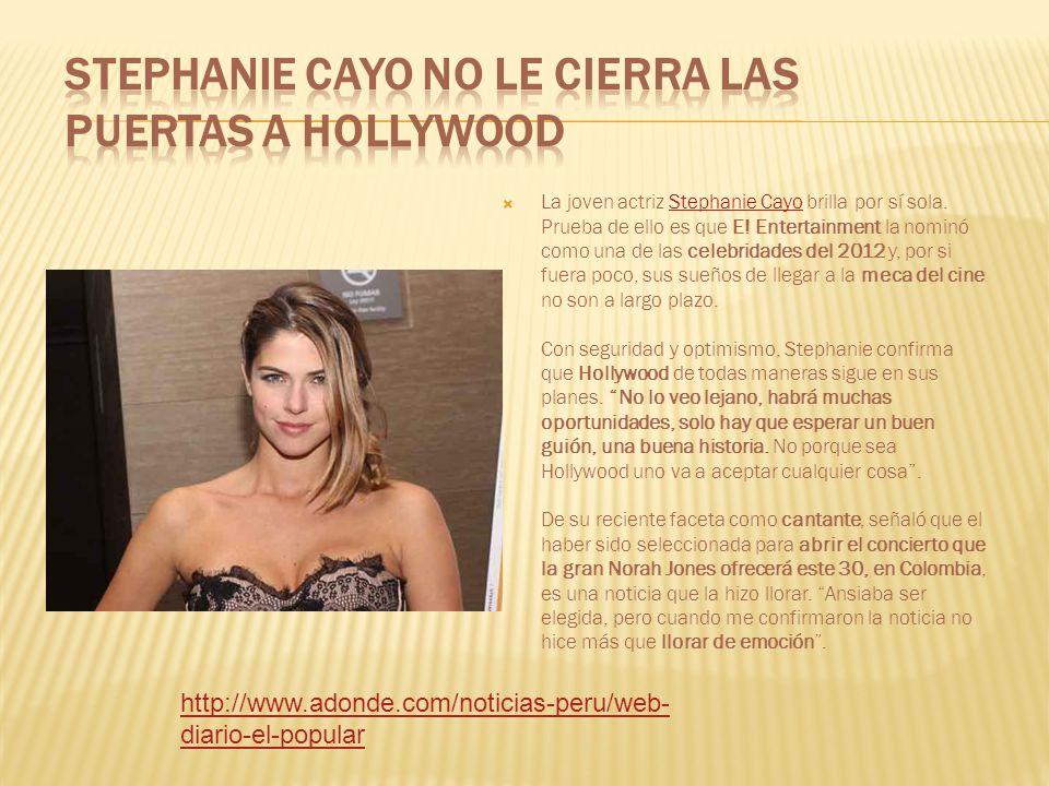 Stephanie Cayo no le cierra las puertas a Hollywood