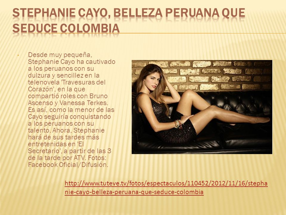 Stephanie Cayo, belleza peruana que seduce Colombia