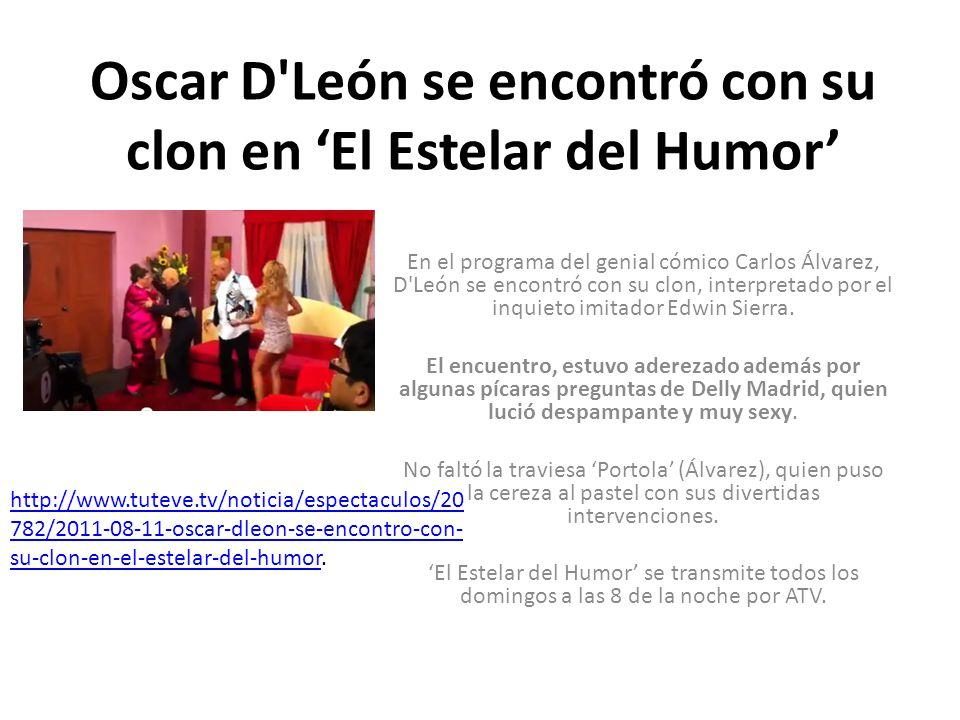 Oscar D León se encontró con su clon en 'El Estelar del Humor'