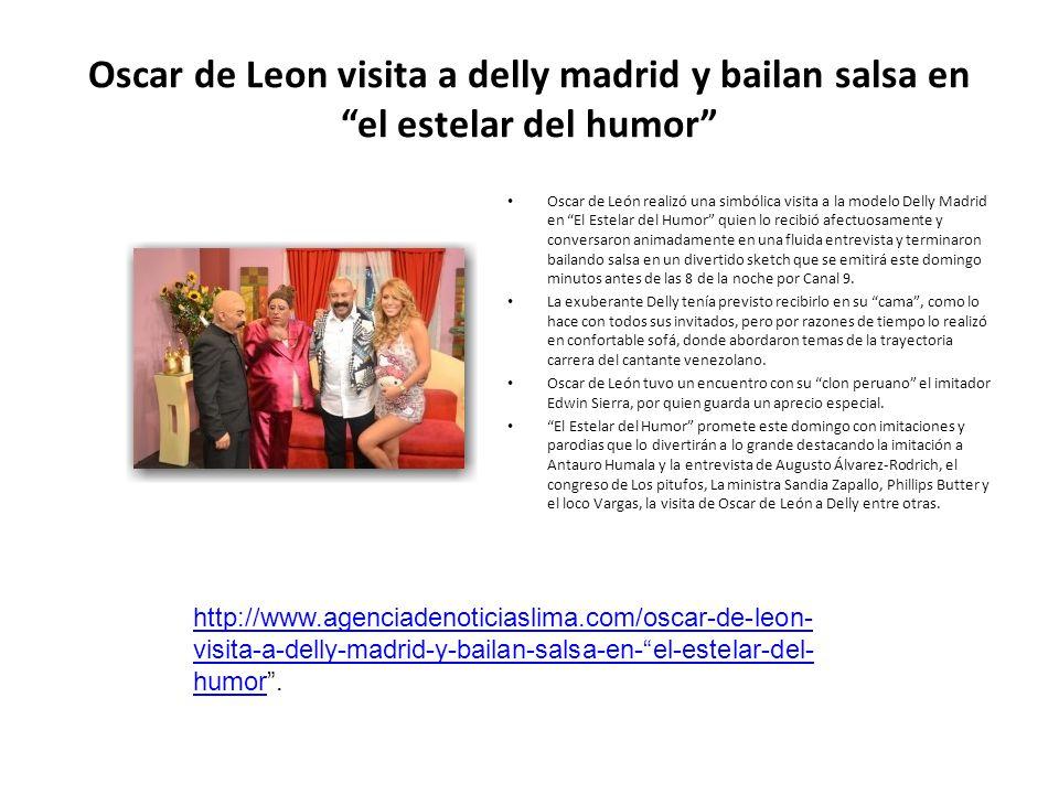 Oscar de Leon visita a delly madrid y bailan salsa en el estelar del humor