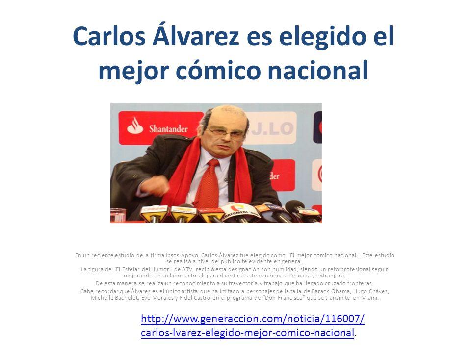 Carlos Álvarez es elegido el mejor cómico nacional