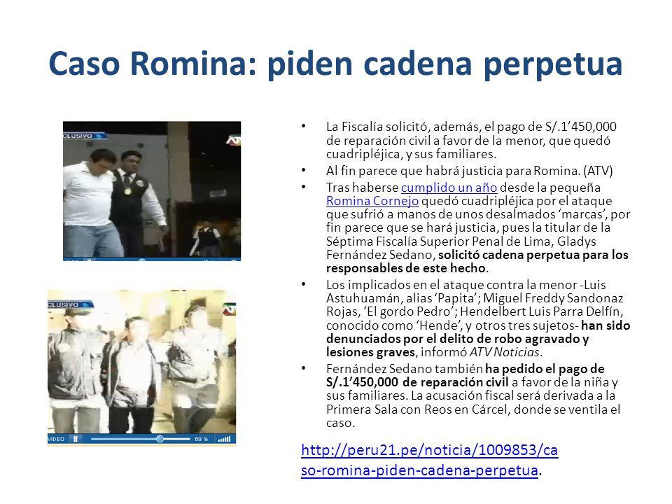Caso Romina: piden cadena perpetua