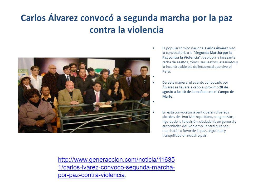 Carlos Álvarez convocó a segunda marcha por la paz contra la violencia
