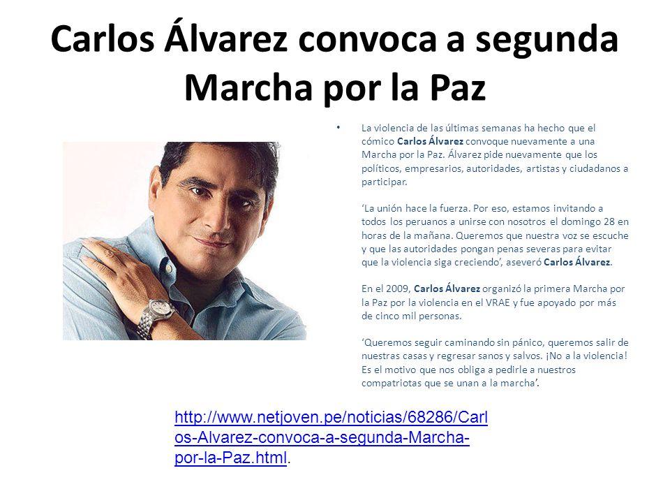 Carlos Álvarez convoca a segunda Marcha por la Paz