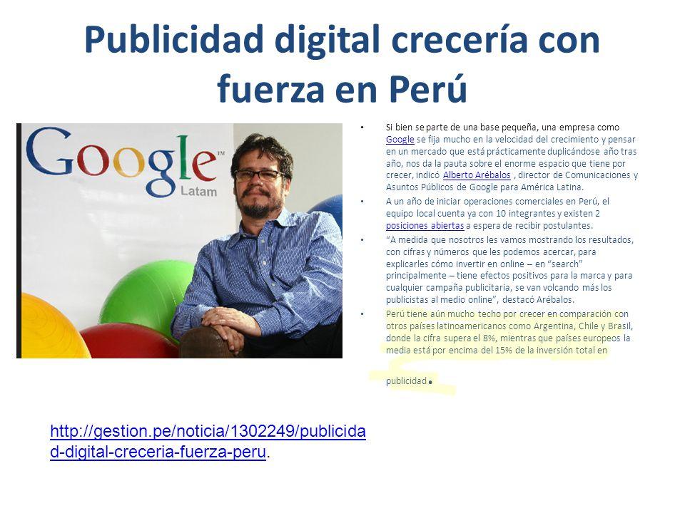 Publicidad digital crecería con fuerza en Perú