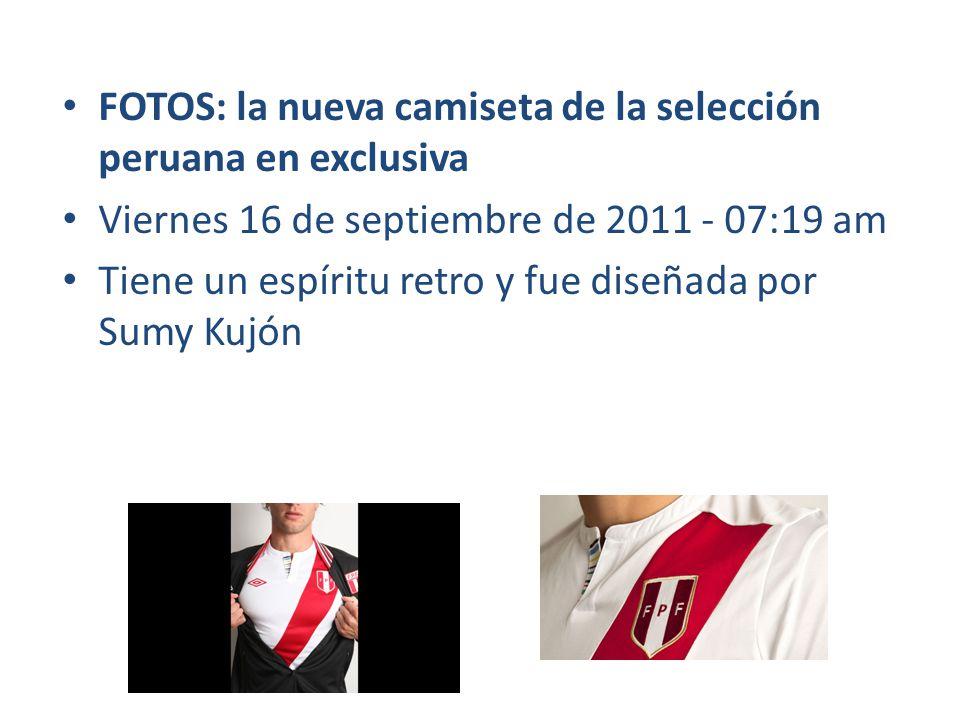 FOTOS: la nueva camiseta de la selección peruana en exclusiva