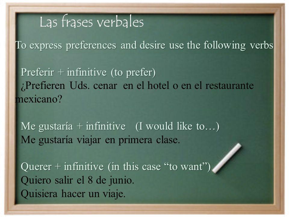 Las frases verbales