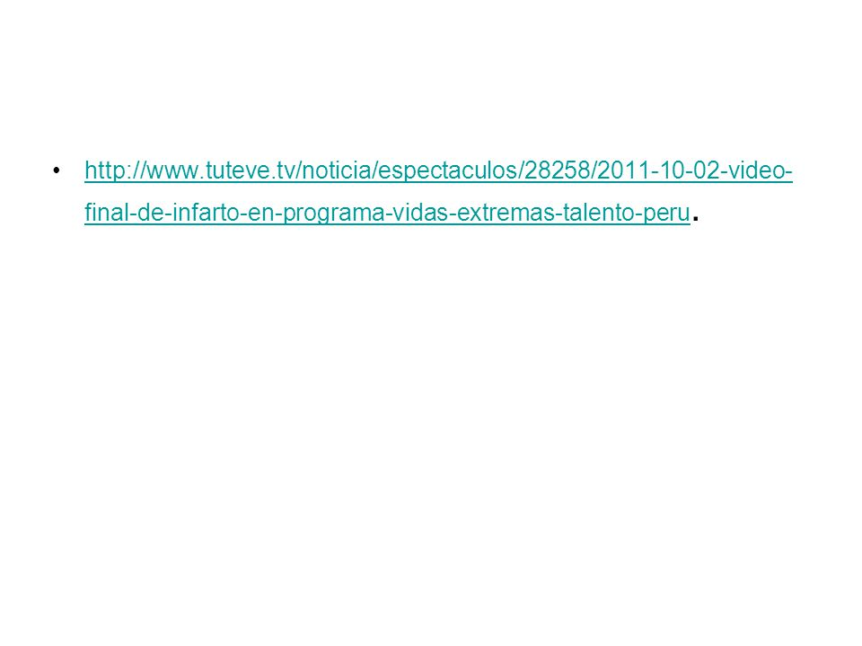 http://www.tuteve.tv/noticia/espectaculos/28258/2011-10-02-video-final-de-infarto-en-programa-vidas-extremas-talento-peru.