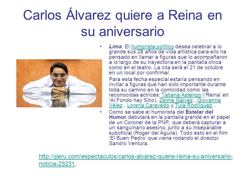 Carlos Álvarez quiere a Reina en su aniversario