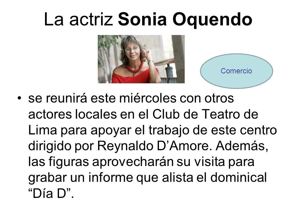 La actriz Sonia Oquendo