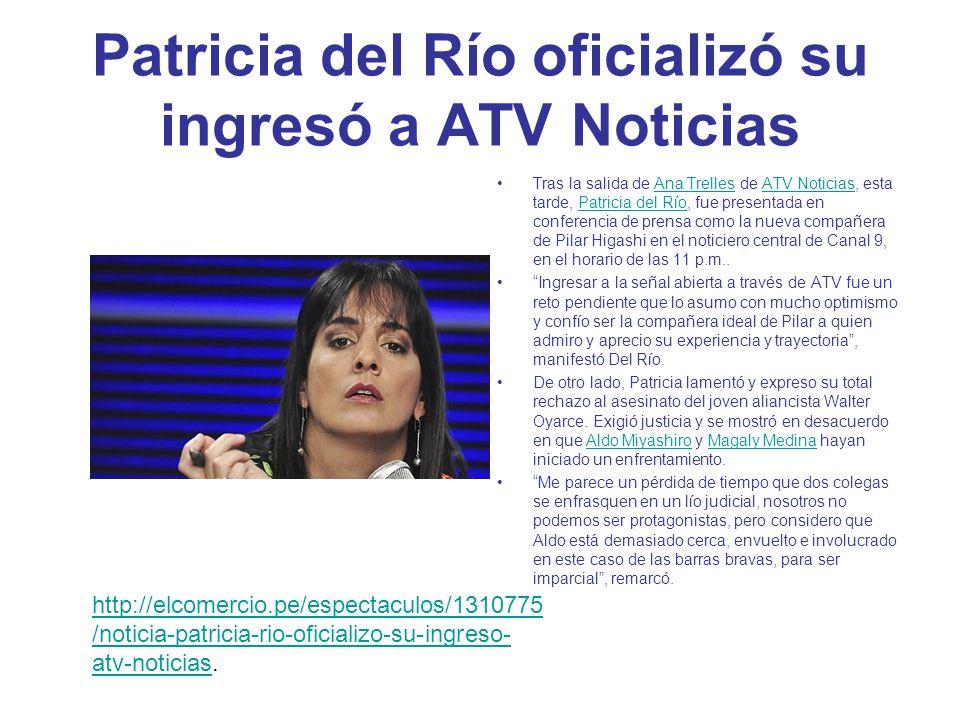 Patricia del Río oficializó su ingresó a ATV Noticias